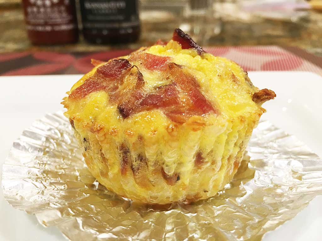 Close-up of a Barbecue Breakfast Cupcake