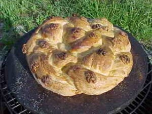 Kolach after baking