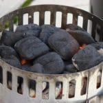 Lighting 40 briquettes in an upside down Weber chimney starter