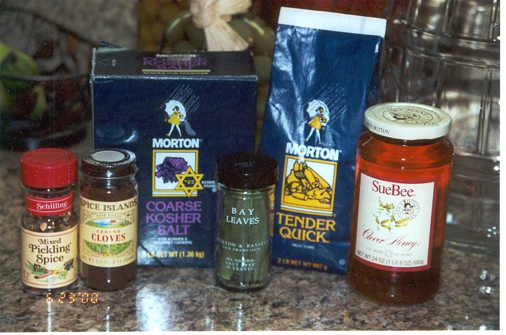 Sampling of flavor brine ingredients