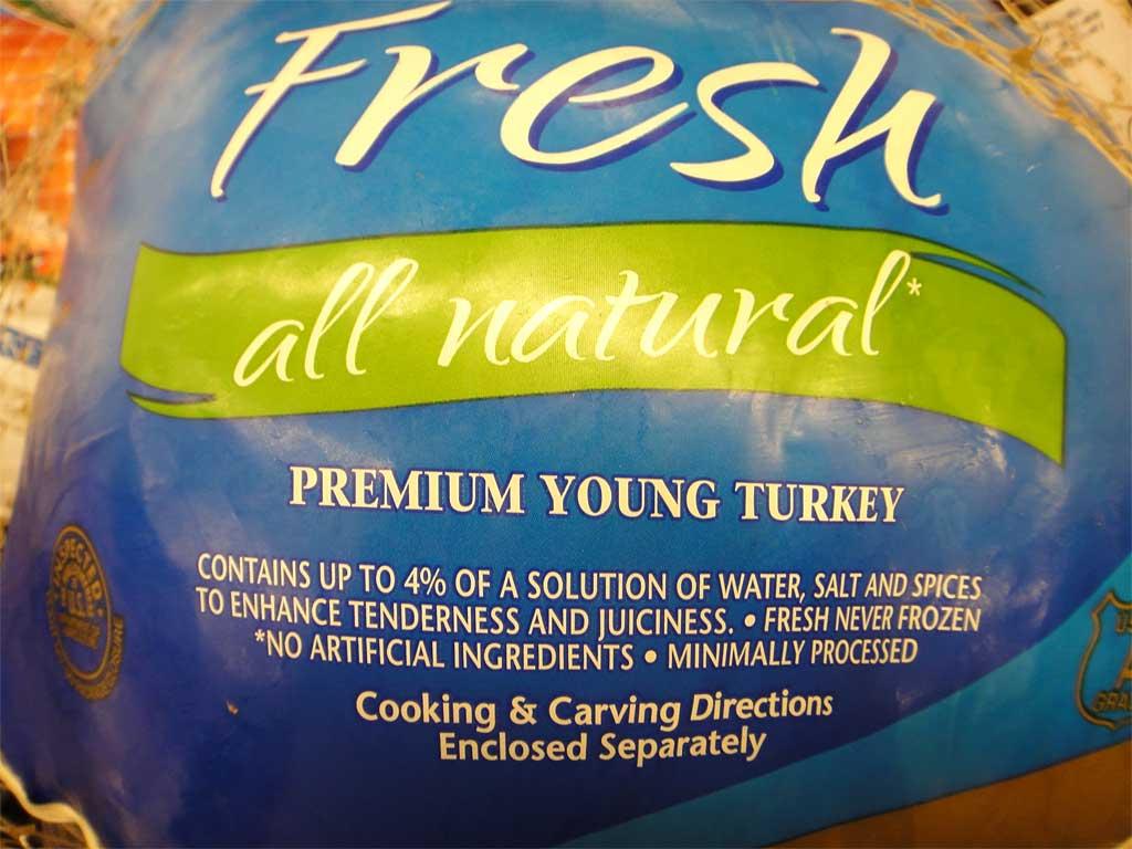 "Butterball ""fresh, all-natural"" enhanced turkey"