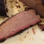 Cross-section view of brisket flat
