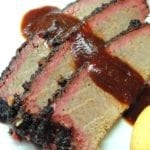 Close-up of brisket smoke ring