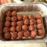 Hand-formed meatballs