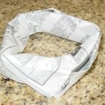 Newspaper donut