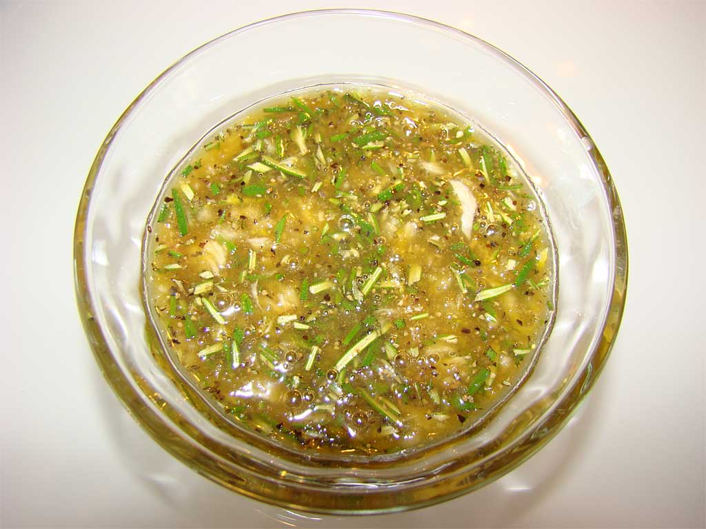 Close-up of marinade in a bowl
