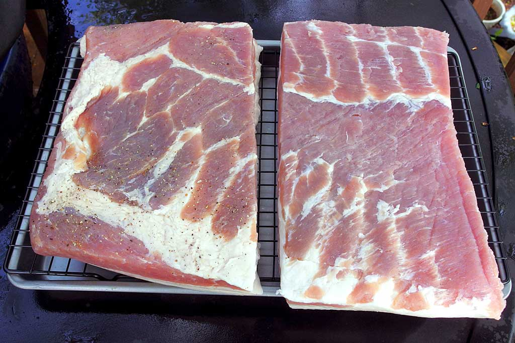Pork belly after rinsing