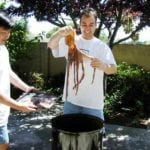 Geoff & Kevin load the octopus into the WSM