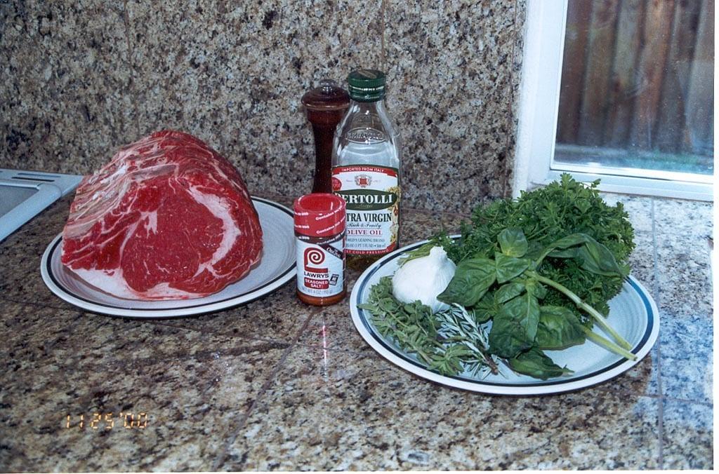 Prime rib ingredients