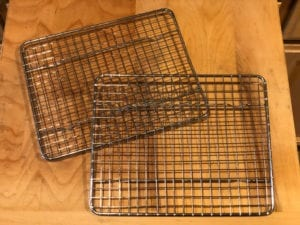 Two small wire cooling racks