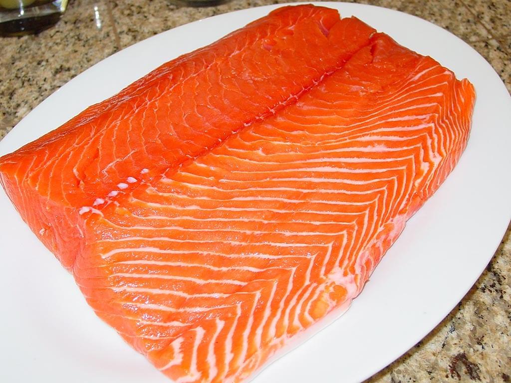 Fresh, wild King salmon center-cut fillet