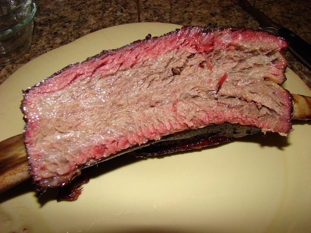 Beef short rib smoke ring