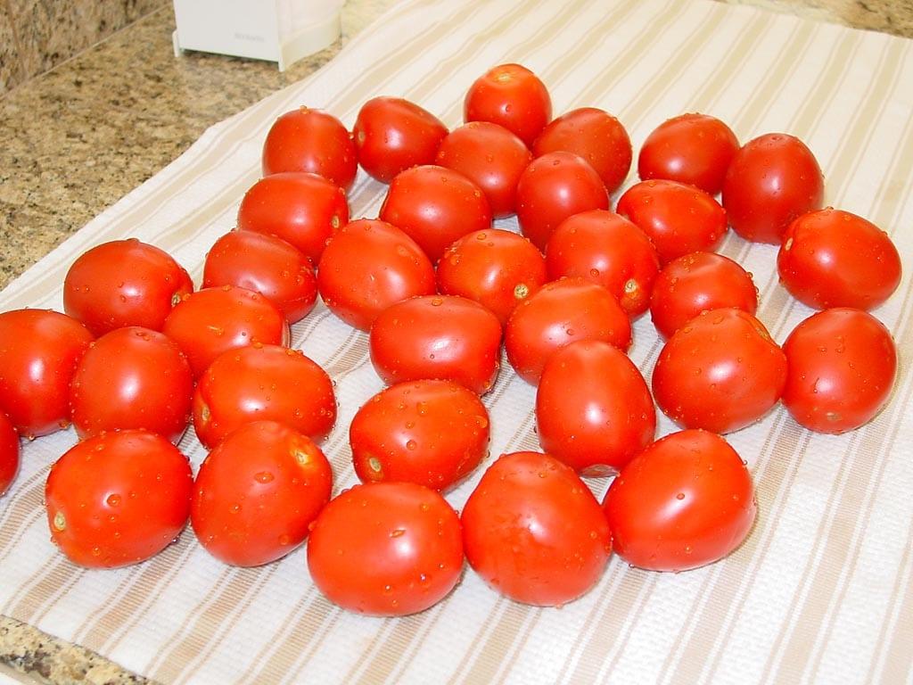 Whole Roma tomatoes