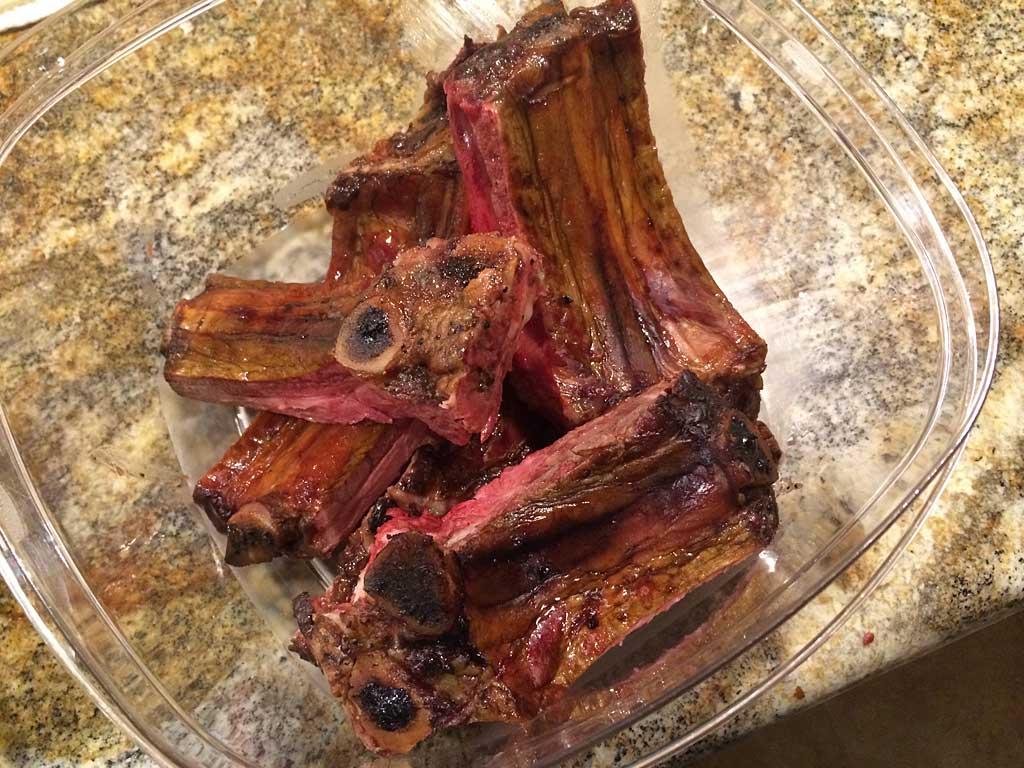 Bowl of rib bones