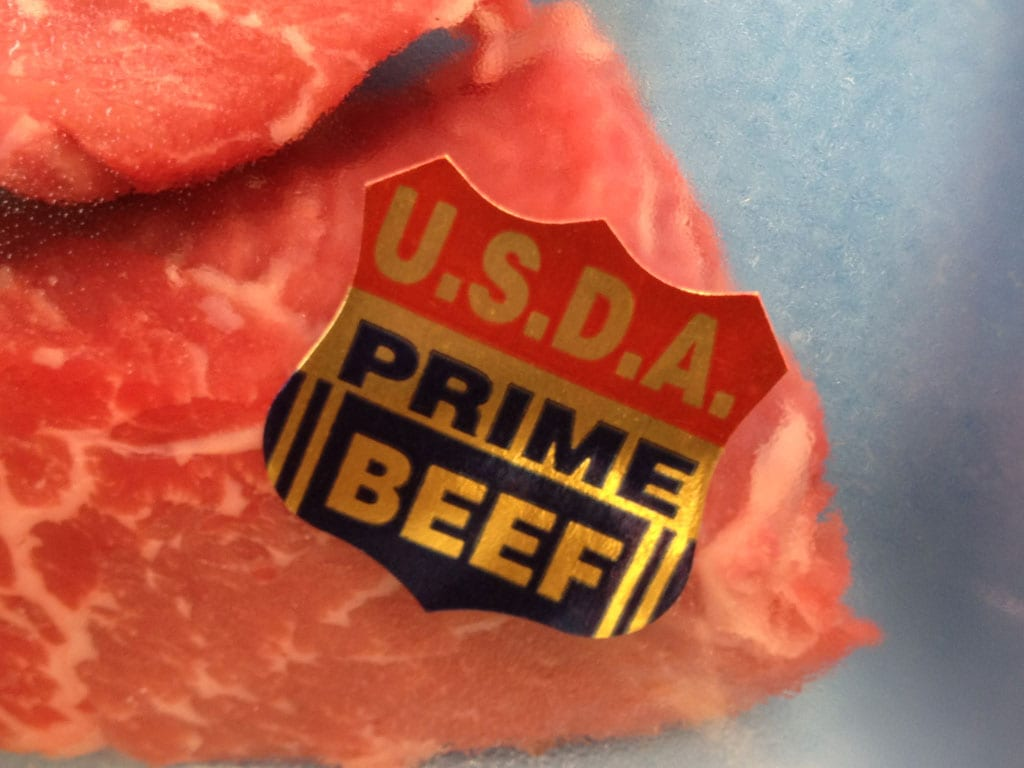 USDA Prime quality grade shield