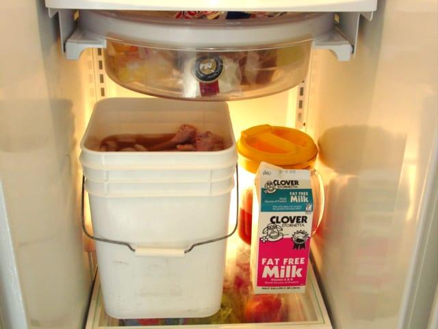 Turkey brining in refrigerator