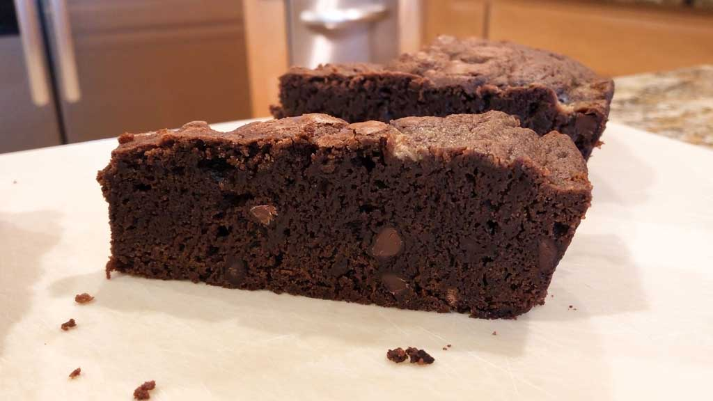 Perfect slice of brownie