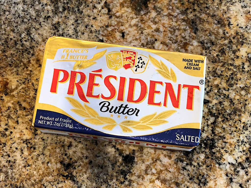President salted French butter