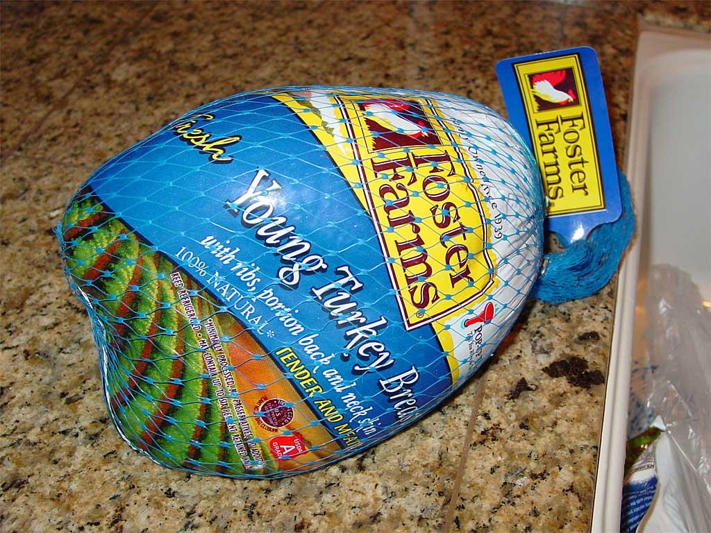 Whole, bone-in turkey breast