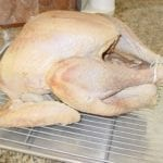 Turkey after 12 hours of air-drying in refrigerator