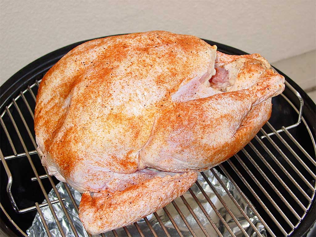 Turkey sprinkled with rub