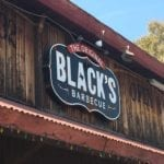 Black's Barbecue sign