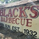 Old Black's sign