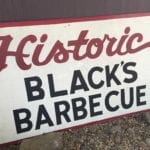 Another Black's Barbecue sign
