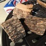 Three chunks of oak smoke wood
