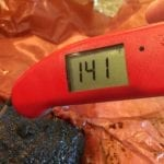 Thermapen shows 141F internal meat temp