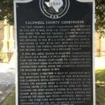 Historic marker outside courthouse