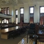 View inside courtroom