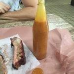 Thin orange BBQ sauce