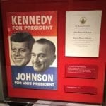 Kennedy/Johnson campaign poster and inauguration invitation