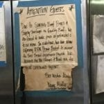A sign warning about the high cost of USDA Prime brisket