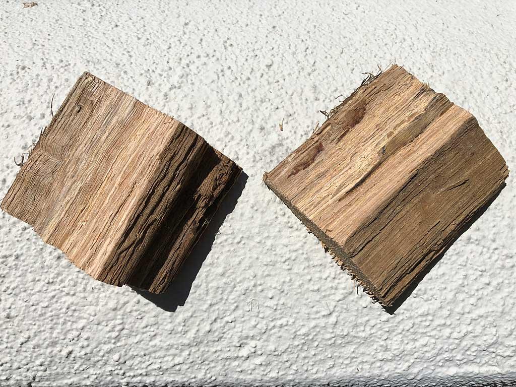 Two chunks of post oak