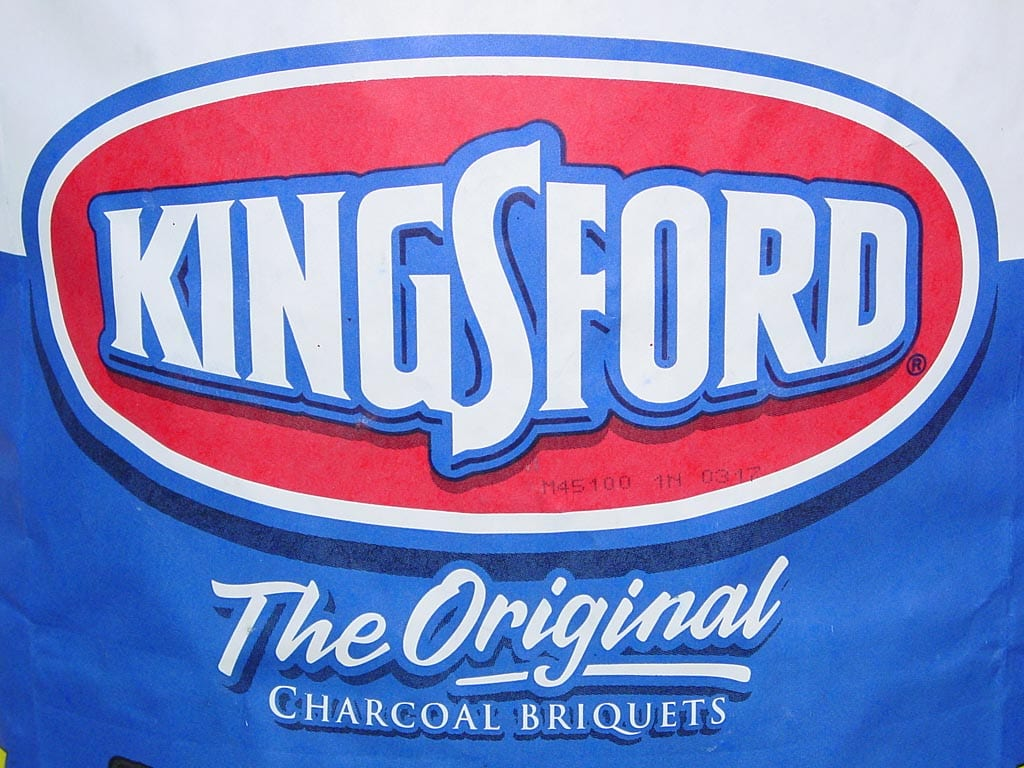 Close-up of Kingsford package