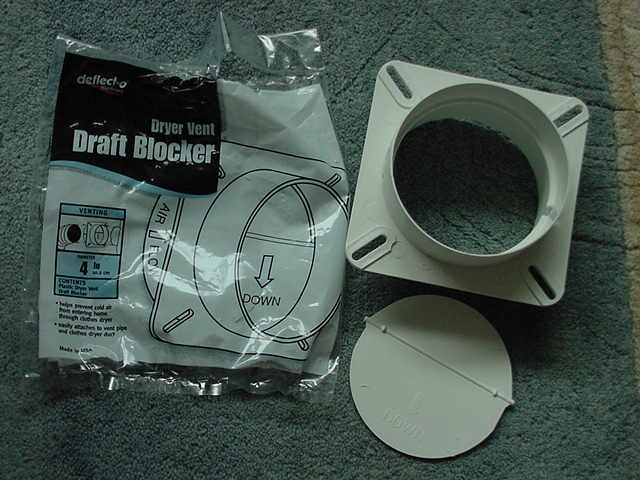 Dryer vent draft blocker and packaging