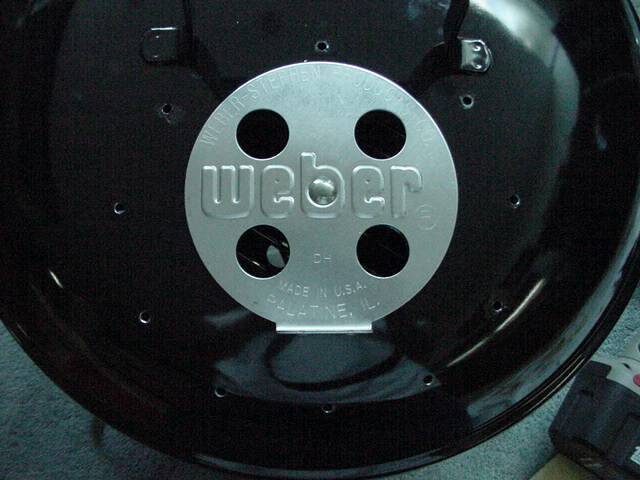 Holes drilled in lid