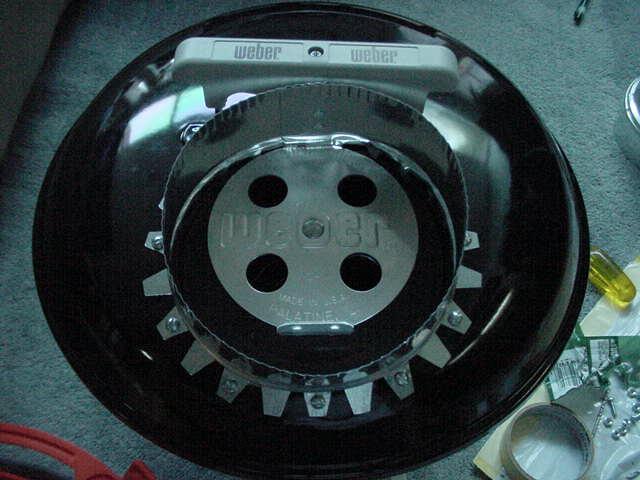 Starter collar screwed onto lid