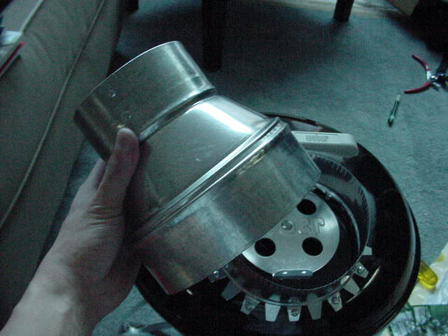 Slipping duct reducer over the starter collar