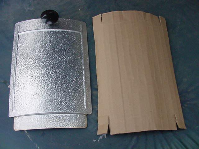 Fabricating a cardboard access door