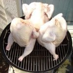 """3 chickens in 18.5"""" WSM"""