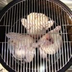 """3 chickens on bottom grate of 18.5"""" WSM"""