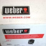 Weber website URL on top of box