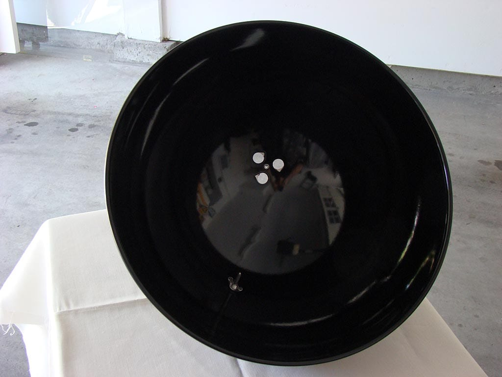 Interior view of lid