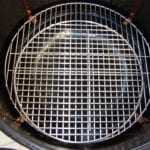 Overhead of nested bottom cooking grates