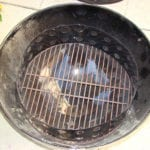Charcoal chamber on charcoal grate