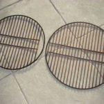 Overhead of charcoal grates