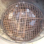 Overhead of nested charcoal grates